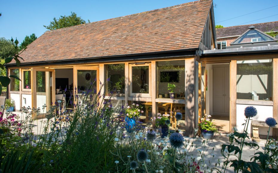 Oak Framed Extension, Hindon, Wiltshire