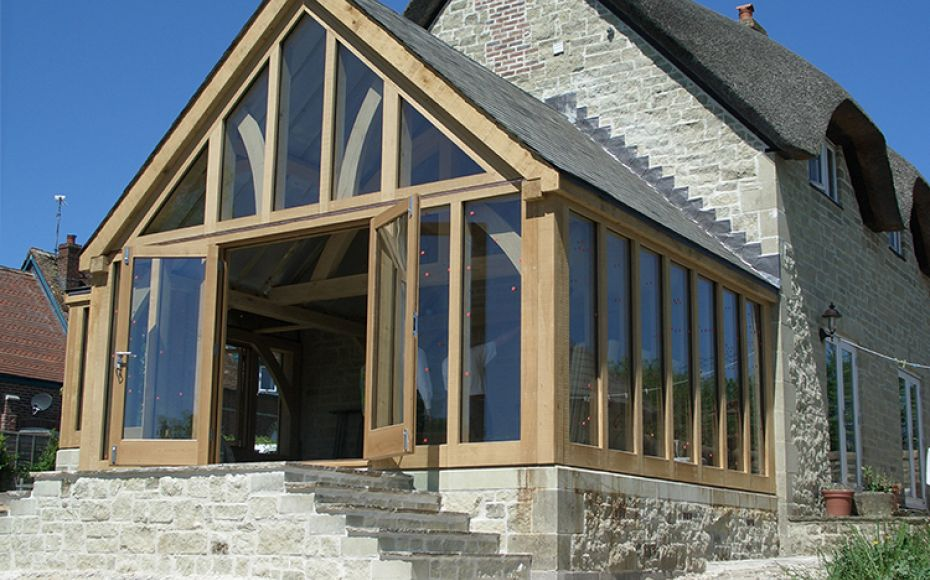 Oak Framed Extension, Compton Abbas, Dorset